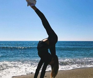fitness, ocean, and summer image
