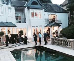 hamptons, mansion, and party image