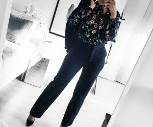 fashion, flower, and navy image