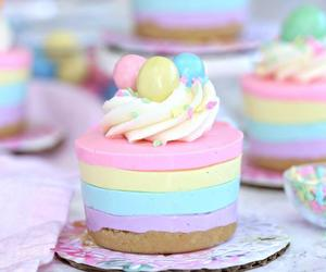 dessert, pastel, and cheesecake image