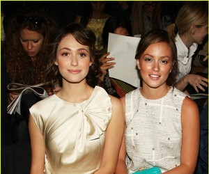 emmy rossum and leighton meester image