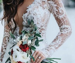 dress, flowers, and beautiful image