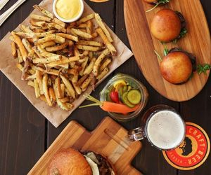burgers, food, and fries image