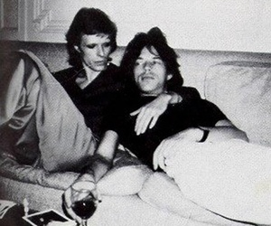 mick jagger and david bowie image