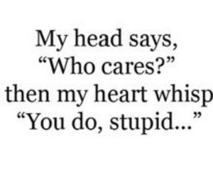 heart, quotes, and stupid image