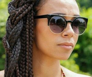 African, black, and braids image