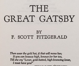 book, f scott fitzgerald, and the great gatsby image