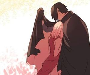 sasusaku, anime, and naruto image