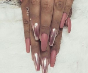 nails, pink, and classy image