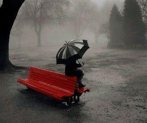 rain, red, and umbrella image