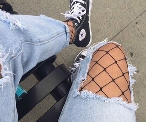 converse, fuck you, and jeans image