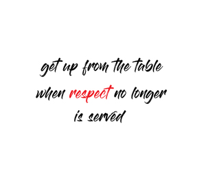 no, disrespectful, and quote image