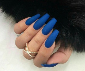 blue, nails, and coffin image