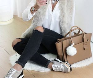 fashion, selfie, and blouse image