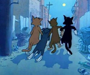 cats, cartoon, and friends image