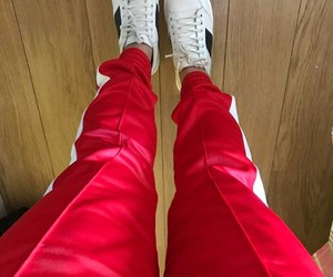 red outfit fashion goals image
