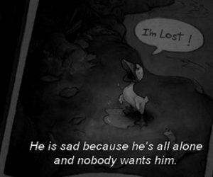 sad, alone, and quote image