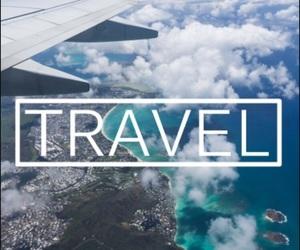 travel, plane, and adventure image