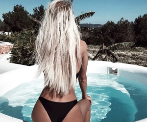 blonde, summer, and tan image