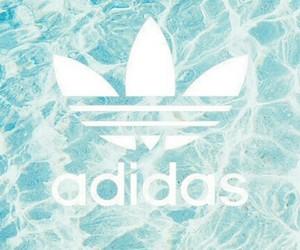 adidas, background, and blue image