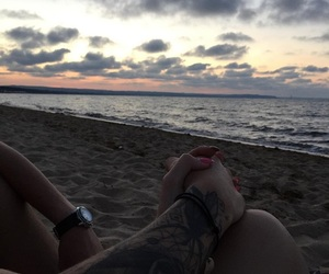 couple and beach image