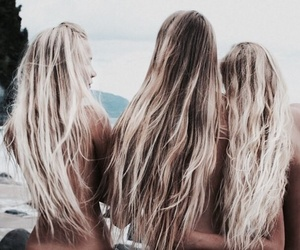 hair, summer, and friends image