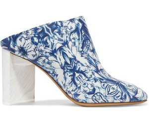 blue and white, fashion, and heels image