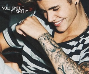 quotes, justin bieber, and u smile image