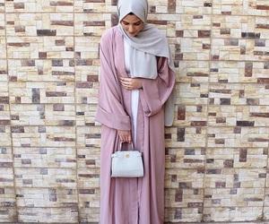girly, pink, and abaya image