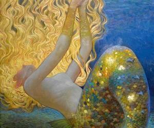 mermaid, fantasy, and sirena image