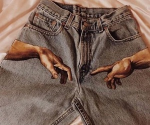 jeans, art, and aesthetic image