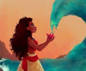 disney, moana, and princess image