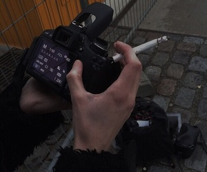 cigarette, black, and camera image