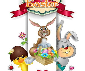 bunny, eggs, and easter image