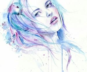 watercolor girl image