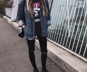 black, blonde, and denim image