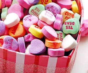 candy, hearts, and heart image
