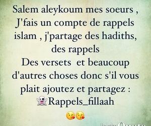 islam, muslim, and rappels image