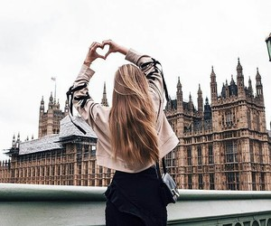 hair, heart, and london image