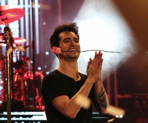 panic! at the disco, brendon urie, and rose image