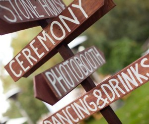 country wedding, sign, and wedding image