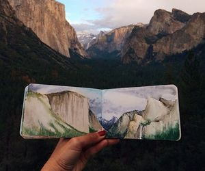 art, nature, and mountains image