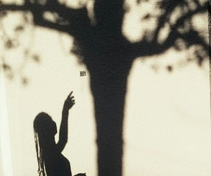 girls, nature, and shadow image