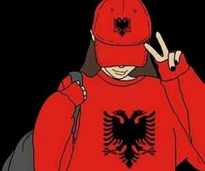 girl, albanian, and cap image