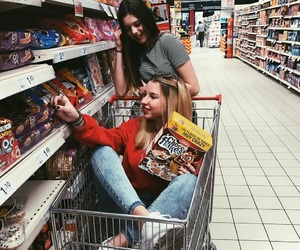 blonde, supermarket, and friends image
