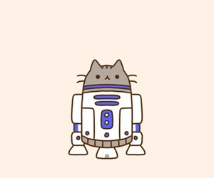 cat, r2d2, and star wars image