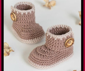 crochet, baby booties, and homemade gifts image