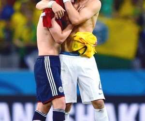 james rodriguez, david luiz, and colombia image