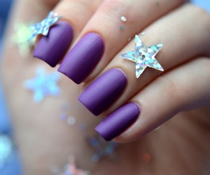matte, purple, and nail polish image