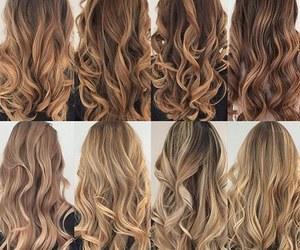 3, blonde hair, and brown hair image